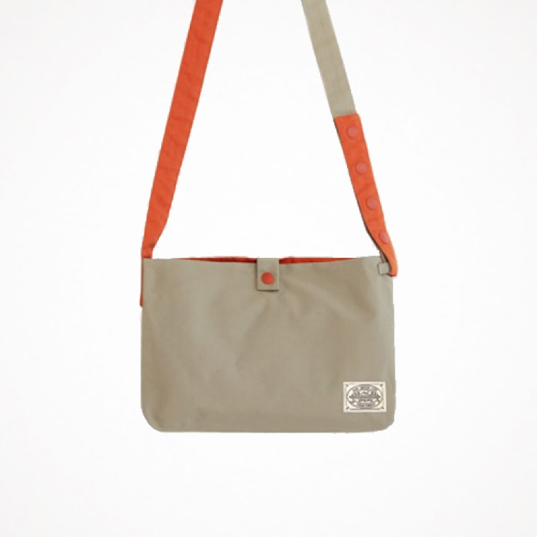 reversible two-way cross bag - oatmeal