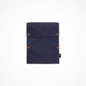 two button book pouch - navy